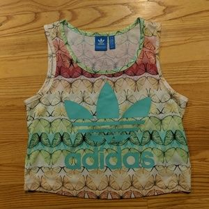 Adidas Originals Farm butterfly crop top